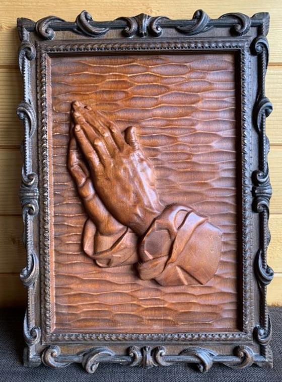 """Пано копие на """"Ръцете които се молят"""" на Дюрер"""